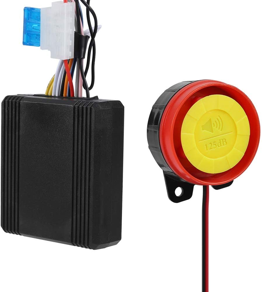 12V Motorcycle Anti-Theft with Remote Control,125ddB Super Sound/& Flashing Lights Warning,5 Sensitivity Levels,Adjustable Universal for Most 12V Motorcycles Tangxi Motorcycle Alarm System