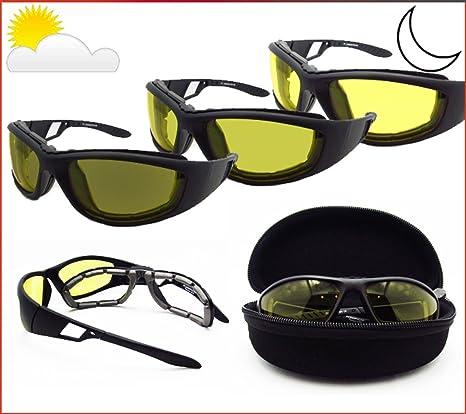 7ae469f645 Amazon.com  Light Adjusting Motorcycle Sunglasses Foam Padded for Men    Women. Photochromic Lenses and Removable Foam Cushion. Free Hard Case.