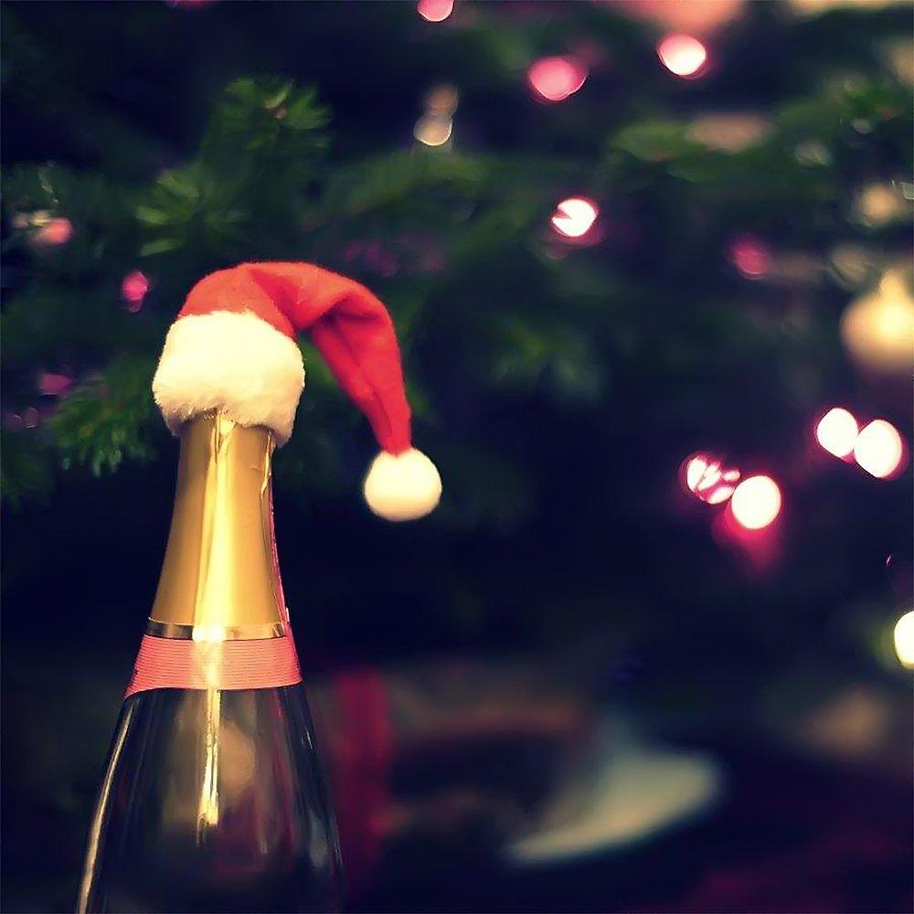 Amazon Com Mini Christmas Santa Hat Wine Bottle Unique