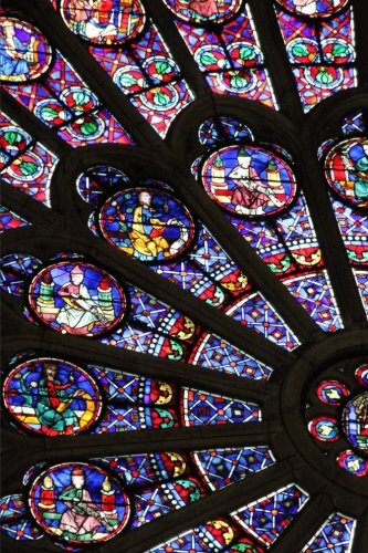 A View of the Stained Glass Window in the Notre Dame of Paris France Journal: 150 Page Lined Notebook/Diary