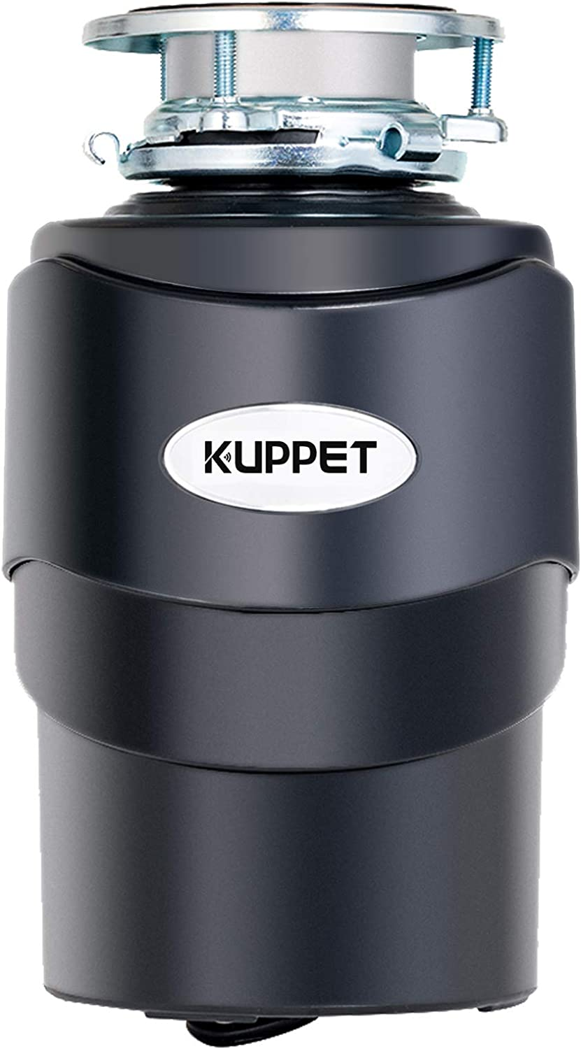 Garbage Disposals KUPPET 1/2 HP Food Waste Disposer with Power Cord 1700 RPM Continuous Feed Super Quiet&Easy to Install 40 OZ. Capacity Stainless Steel