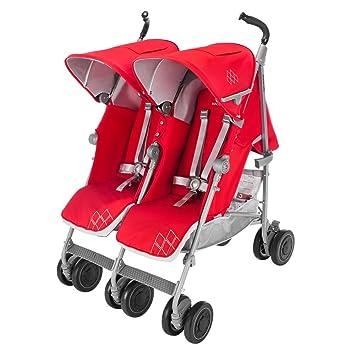 Maclaren Cochecito para gemelos (Cardinal): Amazon.es: Bebé