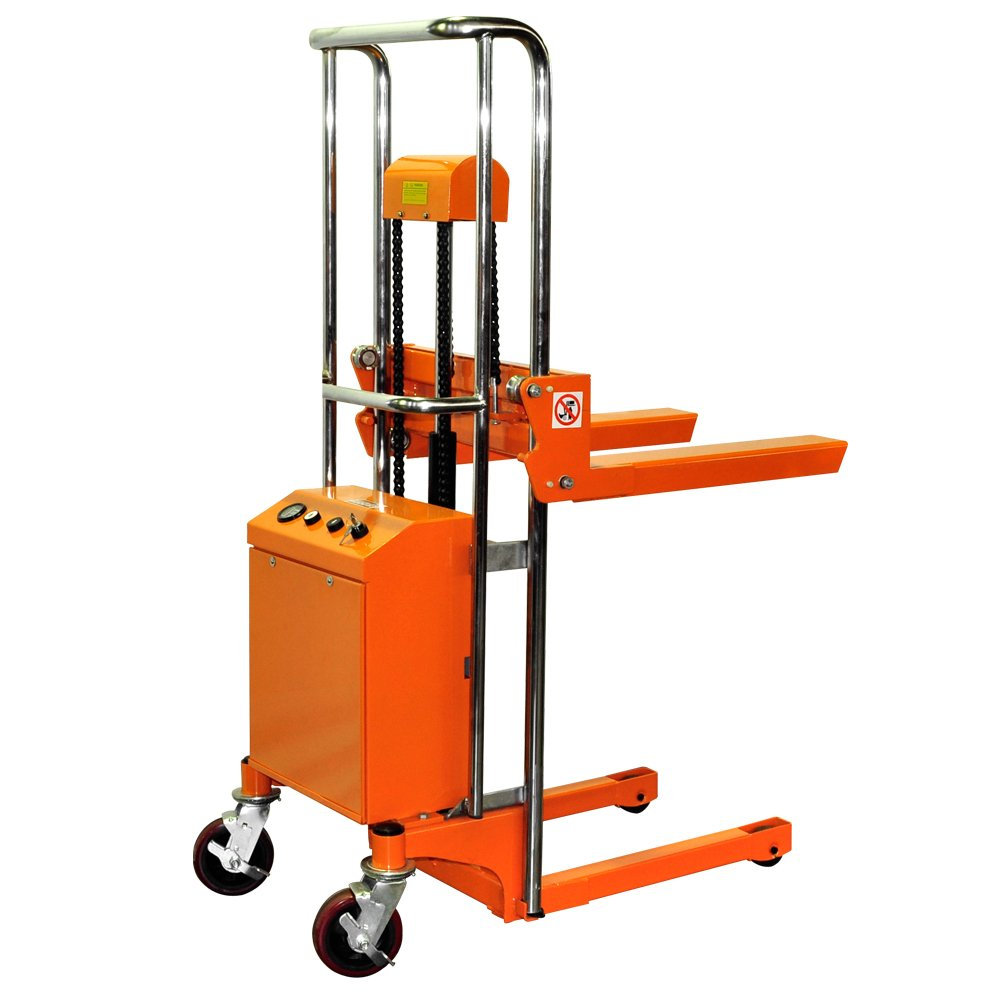 Bolton Tools New Key Operated Electric Powered Hand Forklift Stacker - 880 LB of Capacity - 59.1'' Max Height - Model ETF40-15