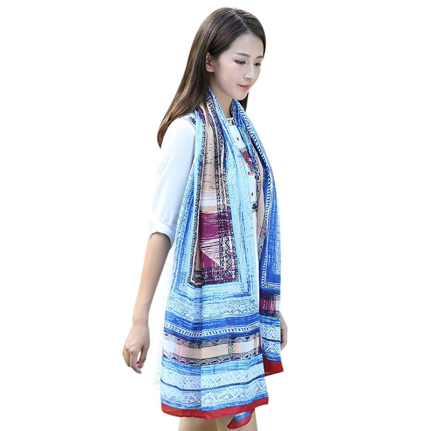 Printed Scarf Sandistore New Printed Fashion Women Printed Cotton And Flax Scarf Long Section Of Scarves
