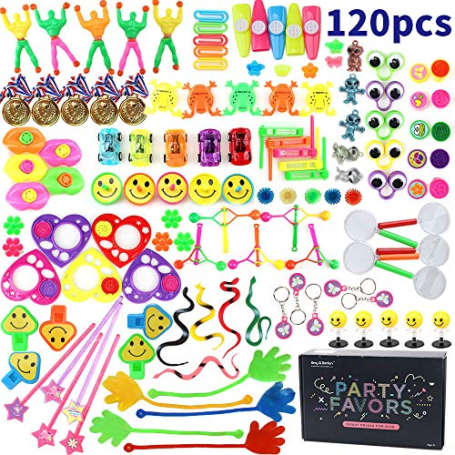Amy&Benton 120PCS Treasure Box Prizes for Classroom, Kids Birthday Party Favors for Goodie Bag Fillers, Assorted Pinata Fillers, Bulk Party Toy Assortment ()