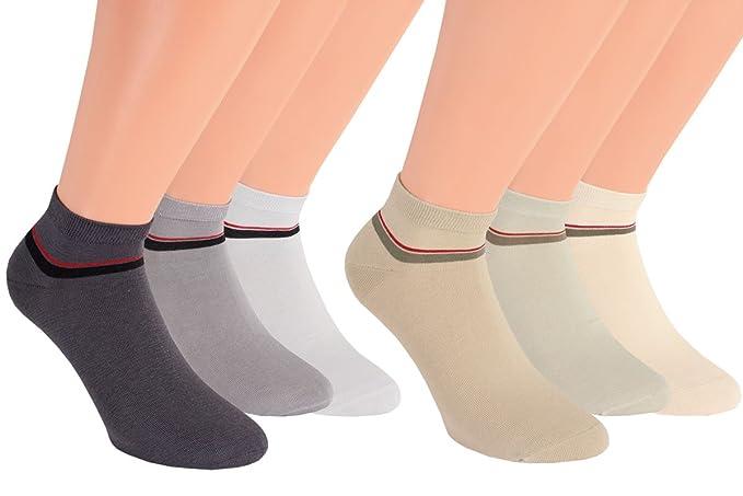 Vita Sox Zapatillas Calcetines Hombre einfarbig algodón natural gris zapatillas Calcetines Calcetines Deportivos Sin Costuras 6