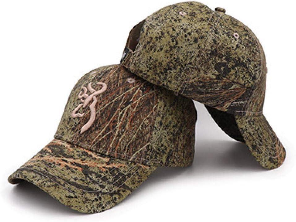PPSTYLE Moda Berretto Mimetico Unisex Browning Berretti da Baseball Donna Uomo Cotone Giungla Cappello da Caccia allaperto Soldato Cappelli Tattici