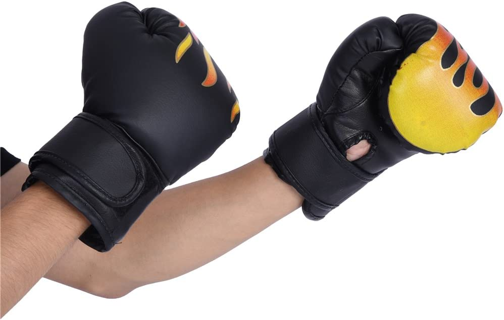 Rouge Liukouu 3Colors Enfant Combat De Boxe Muay Thai Sparring Poin/çonnage Kickboxing Grappling Sandbag Gants