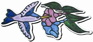"StealStreet 52072 Hummingbird with Flowers Screen Refrigerator Magnet, 6.5"", Blue"