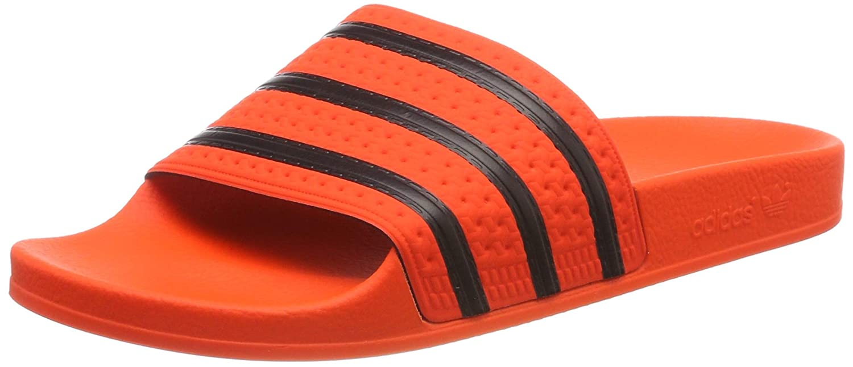 Mehrfarbig (Naract Negbás Naract 000) adidas Herren Adilette Pantoffeln, schwarz Orange, EU