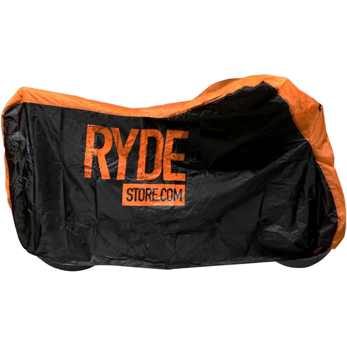 Ryde Orange/Black Waterproof Motorcycle Cover - Large