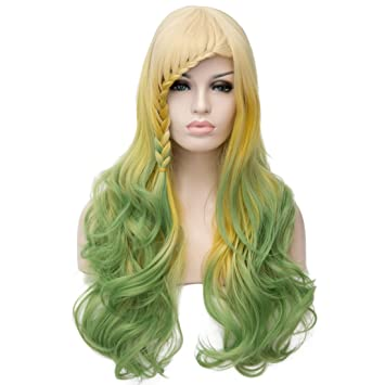 Amazon.com: Max beauty Wig Cosply Costume Loita Ombre Long Curly Wave Wigs Hair Natural Women Heat Resistant Synthetic Fiber 23 Colors Free Caps (Light ...