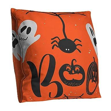 Funda de almohada de halloween Funda de cojín de doble cara ...