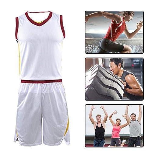 YILIFA Conjuntos de Camisetas de Baloncesto para Hombre, Camisetas ...