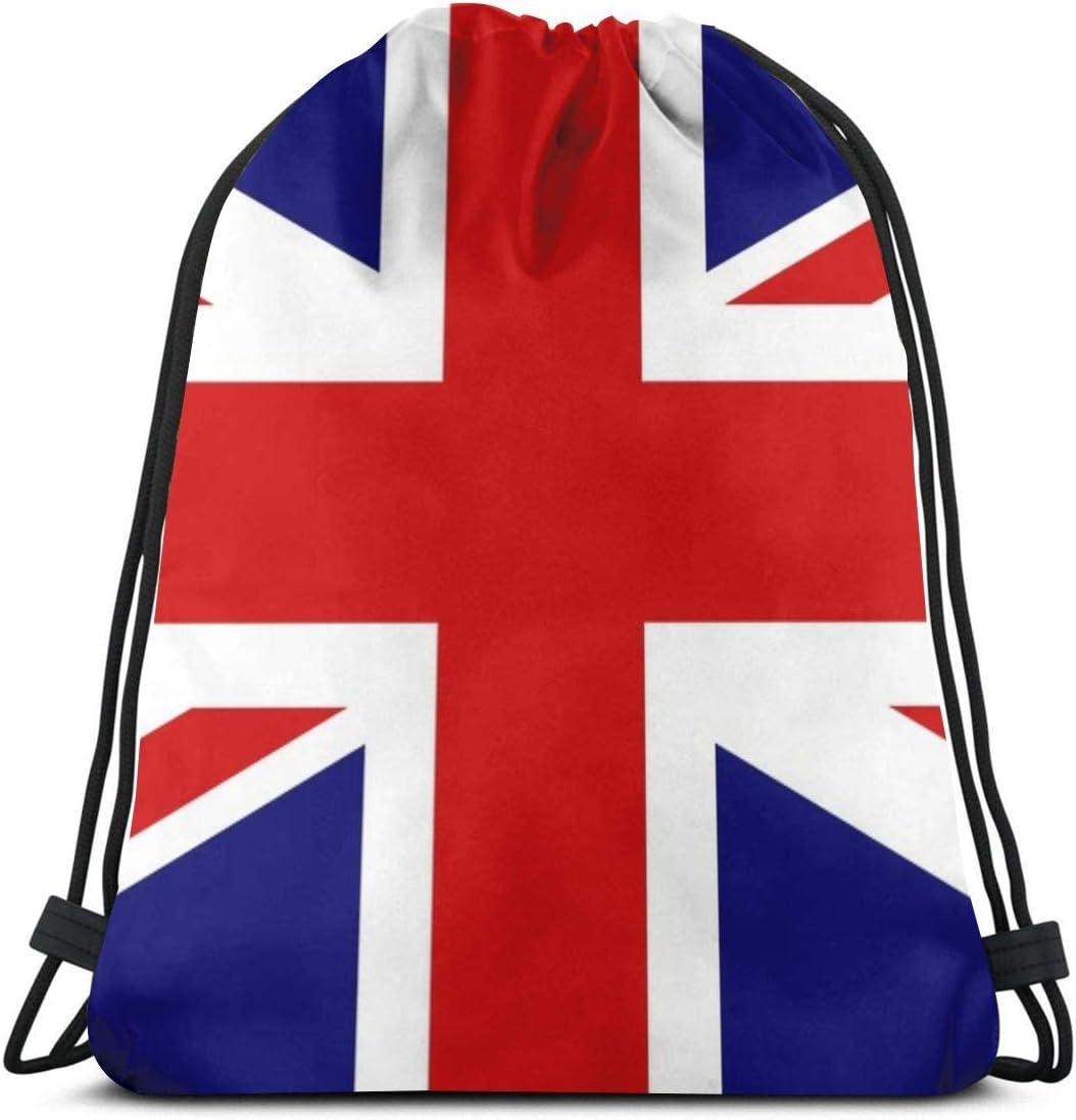 Ameok-Design Union jack Shoulder Drawstring Bag Backpack String Bags School Rucksack Gym Sport Bag Lightweight