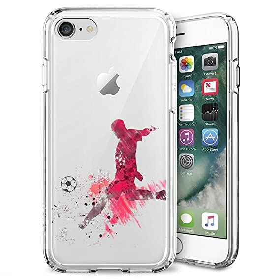 03bc5cc583d1d Amazon.com: Playing Football iPhone 7 8 Case Clear, By Milostar ...