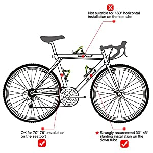 Wiel 100% Full Carbon Fiber Bicycle Bike Light Drink Water Bottle Cage Holder (2PCs Green)