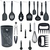 Kitchen Utensil Set With Holder - Silicone Kitchen Utensils - Cooking Utensils - Utensil Set - Silicone Cooking Utensils - Co