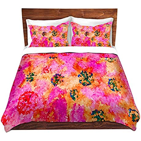 DiaNoche Designs Crystal Floral Cry Bedroom And Bedding Ideas Cover 8 King Duvet Sham Set