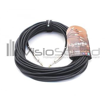 LiveWire Cable Pro Speaker 6.35mm Jack 15m Black Audio Lead: Amazon ...