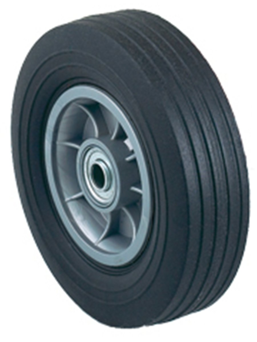 Harper Trucks WH 14 Flat-Free Solid Rubber 8-Inch by 2-1/4-Inch Ball Bearing Hand Truck Wheel
