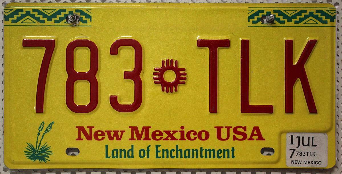 US Nummernschild New Mexico Nummernschilder