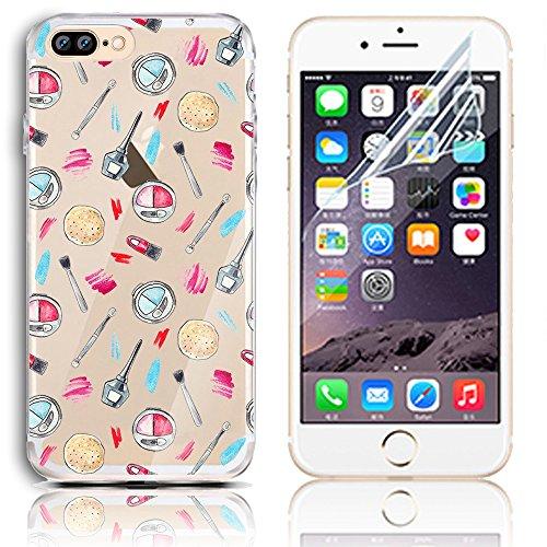 Sunroyal TPU Transparente para iPhone 7 Plus Funda [Resistente a los Arañazos] Flexible Carcasa Gel Silicona Case Cover Bumper [Ultra Slim] Cáscara Cubierta Protectora Caja del Teléfono para iPhone 7  A-32