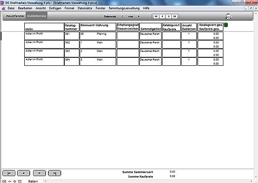 Gs Briefmarken Verwaltung 4 Plus Software Zur Verwaltung Ihrer
