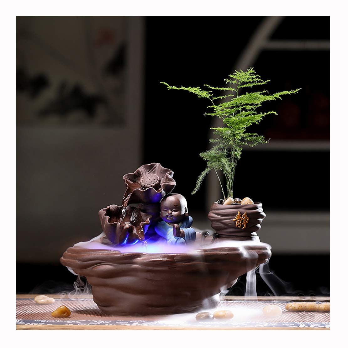 B Modern Style Indoor Fountain, ceramic Feng Shui Ornaments, Great For Home Ornament, Ideal Birthday, Anniversary or Wedding Present,B