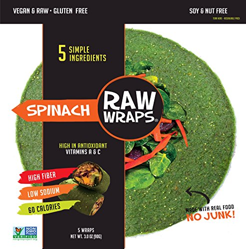 Raw Wraps Spinach- Gluten & Soy Free, Vegan & Raw, Paleo (Quinoa ()