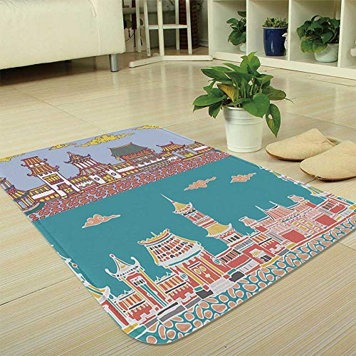 YOLIYANA Modern Carpet,Ancient China Decorations,for Living Room  Bathroom,35 43