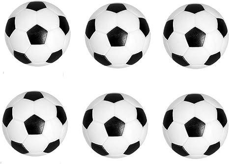 VADOO - Juego de 6 Pelotas de futbolín de 32 mm, de plástico, protección del Medio Ambiente, Repuesto para Juguetes Infantiles (Blanco y Negro): Amazon.es: Hogar