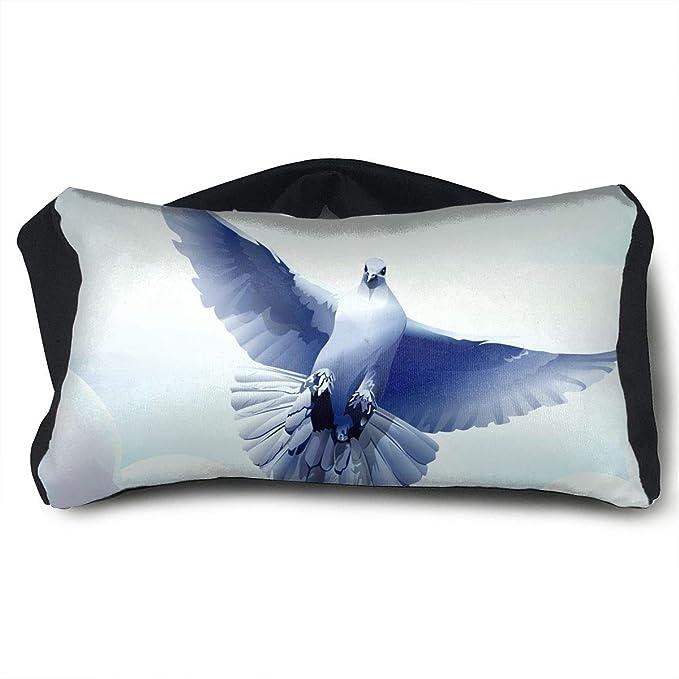 Amazon.com: Eye Mask Eye Pillow White Dove Painting Eyeshade ...