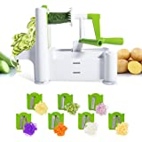 Vegetable Spiralizer 7-Blade Heavy Duty Spiral Slicer for Onion, Carrots, Tomato, Zucchini Noodle,Pasta Masthome