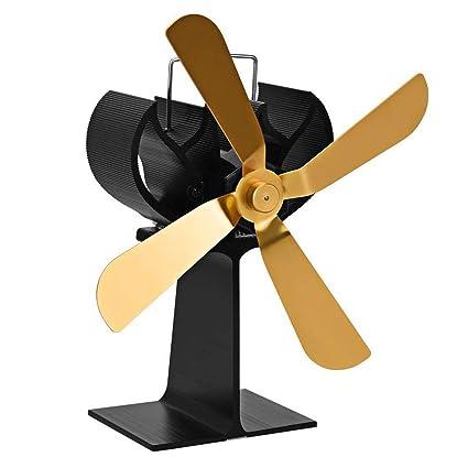Sensational 4 Blades Heat Powered Stove Fan Log Wood Burner Ecofan Quiet Download Free Architecture Designs Rallybritishbridgeorg