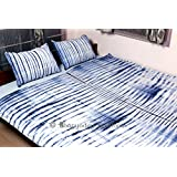 """""""Bhagyoday Fashions"""" - Indian Mandala Reversible Duvet Cover - Bohemian Doona Quilt Cover - Tie Dye Duvet Cover Queen - Shibori Blue Indigo Blanket Cover - Cotton Bedspread With Two Pillowcases"""