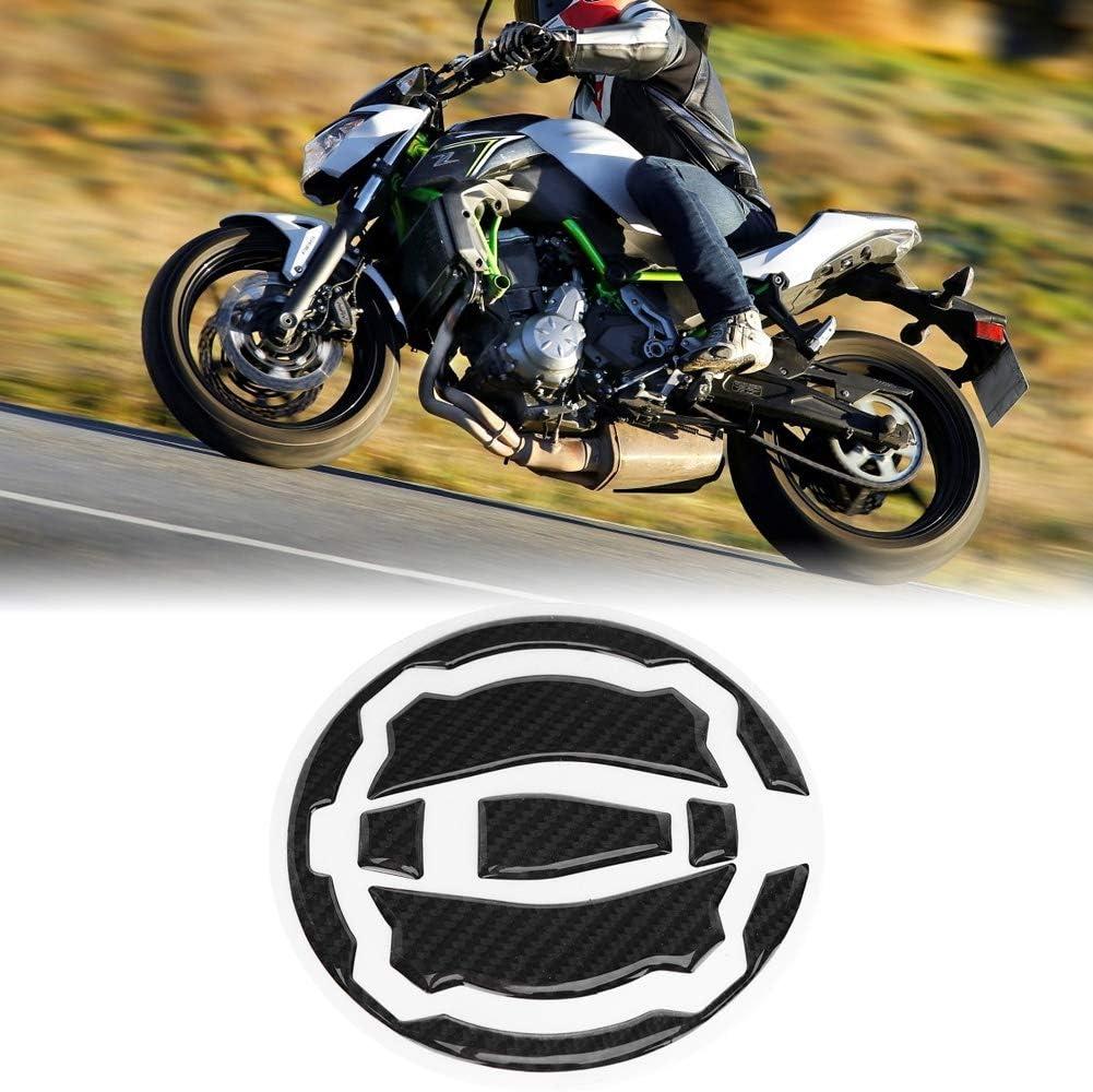 Suuonee R/éservoir Autocollant Fiber De Carbone Moto R/éservoir /À Essence Cap Pad Cover Cover Stickers Autocollants pour Z900 Z650 17-18 Noir