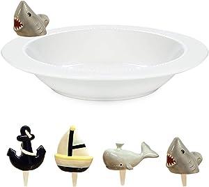 Little Charmers Decorative Accents Set - Ceramic Charmers Serving Bowl - Nautical Little Charmers 4 Piece Set