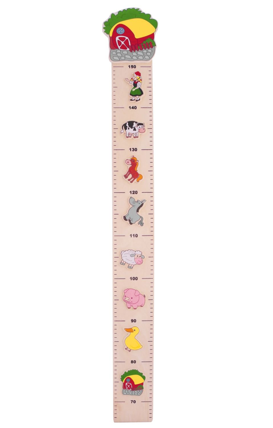 Bieco 74092170 Farm-Themed Height Chart for Children 102 x 13.5 x 1.5 cm