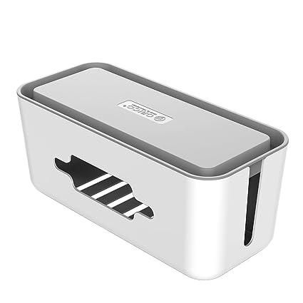 ORICO Cable Storage Box Organizer - Wire Storage Box for Small Power Strips  & Surge Protectors