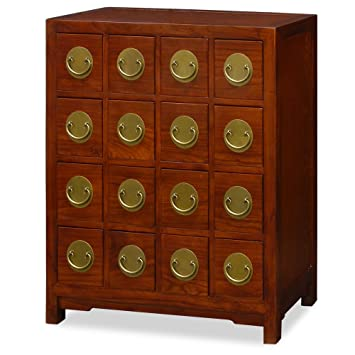 China Furniture Online Elmwood Chest Of Drawers, Hand Crafted Ming Style  Apothecary Medicine Cabinet In