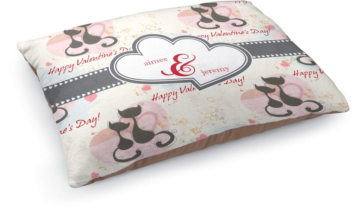 YouCustomizeIt Cats in Love Dog Bed (Personalized)