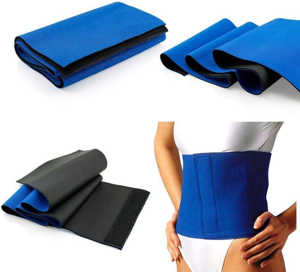 Yosoo /Übungsg/ürtel // Bauch-weg-G/ürtel Fettverbrennung f/ür Gewichtsverlust Blau gegen Cellulite formt Fitness Schutz-G/ürtel