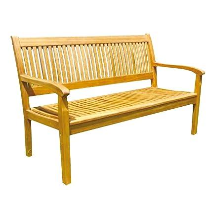 Panca panchina legno di acacia 2 posti solida resistente arredo ...
