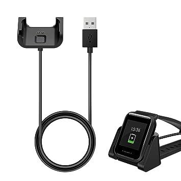 MoKo Cable de Carga USB Compatible con Xiaomi Huami, PC Cargador de Repuesto con PVC Cable Durado y Compacto de Carga Rápida para Xiaomi Huami Amaxfit ...