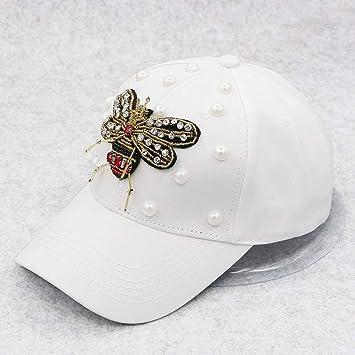 Shaoqingren Summer Cool Rhinestone Bees Gorra de béisbol Snapback ...
