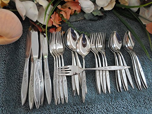 Oneida Royal Harvest - ROYAL HARVEST Oneida Rogers Premier Stainless 18/8 USA 29pcs 5 Place Settings+ No -Pinch Knives