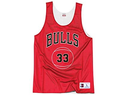 b609bff2ffc Mitchell   Ness Chicago Bulls Scottie Pippen Name Number Reversible Mesh  Tank Top (Small