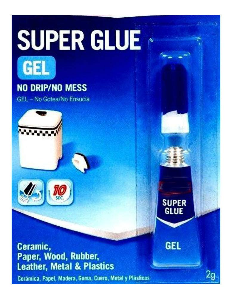 New 2g Super Glue Gel Clear No Mess Wood Rubber Plastic Metal 235495