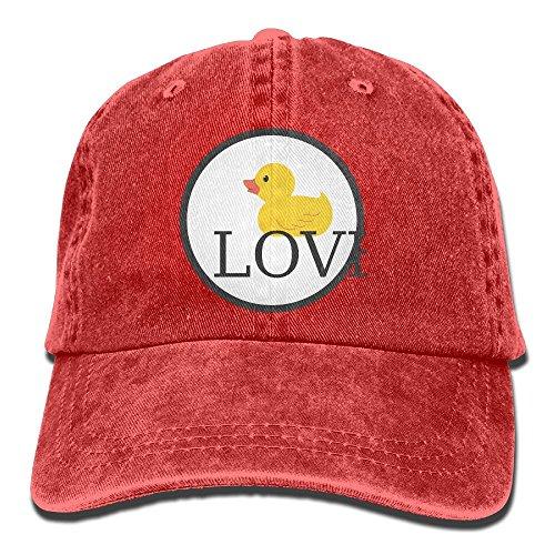 GqutiyulU Duck Love Adult Cowboy Hat Red ()
